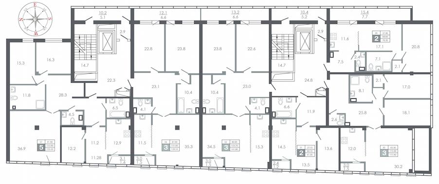 план этажа №10
