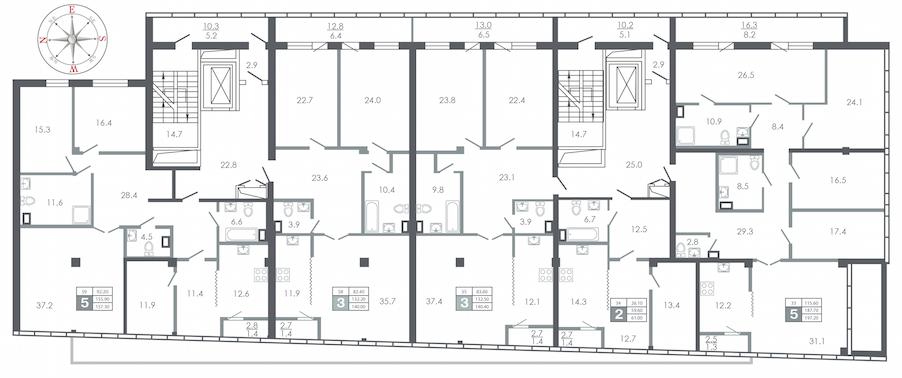 план этажа №11