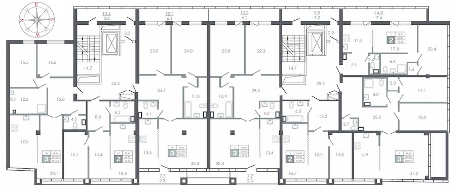 план этажа №3