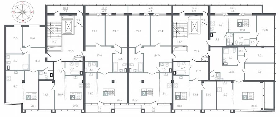 план этажа №4