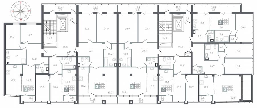план этажа №6