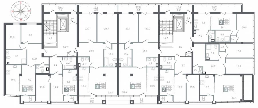 план этажа №7