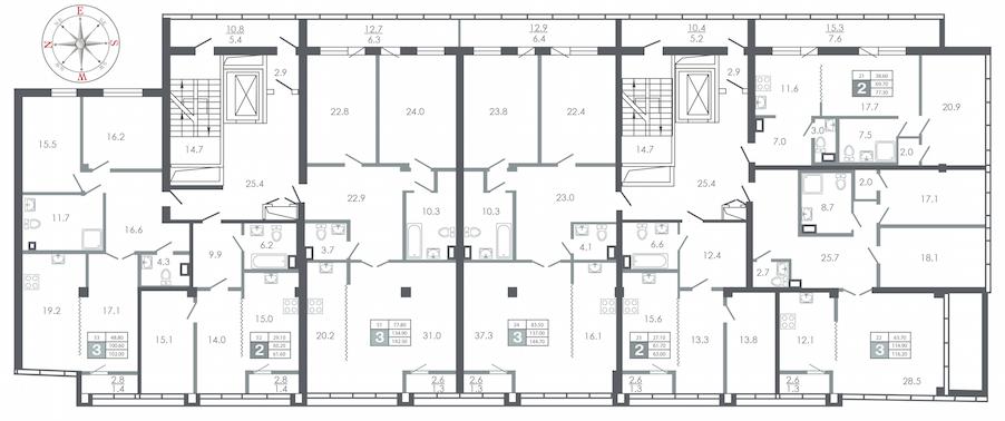 план этажа №8