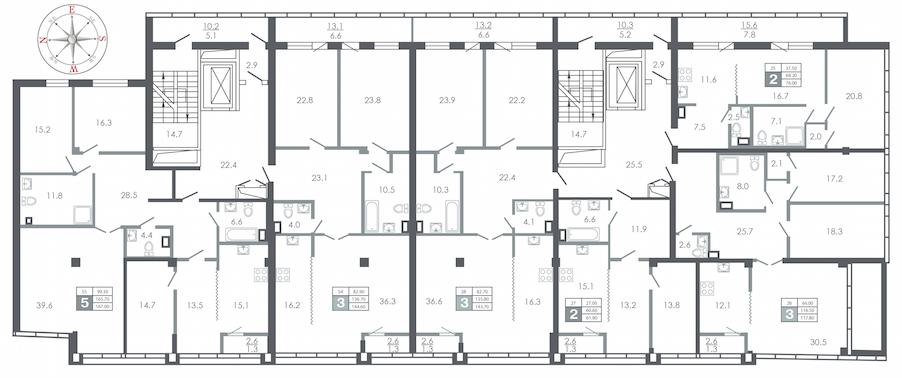 план этажа №9